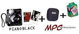 Fujifilm Instax Mini 50s Instant Film Camera (BLACK) + Fuji Instax Dedicated zippered camera case (Black) + Fujifilm Instax Instant Film (ISO 800) (Twin Pack 20 Photos)