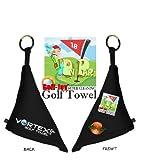 Alpine Innovations Vortex Golf Towel, Black