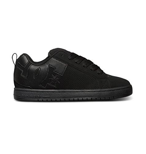 DC Men's Court Graffik Skate Shoe, Black/Black/Black, 7.5
