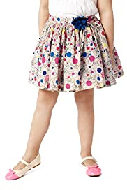 Autograph Pure Cotton Floral Corsage Skirt
