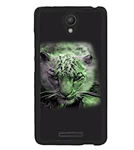 Fuson Premium Stalking Leopard Metal Printed with Hard Plastic Back Case Cover for Xiaomi Redmi Note 2