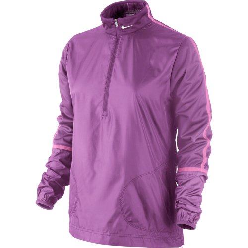 Nike Women's Windproof Half Zip Jacket - Medium - Red Violet