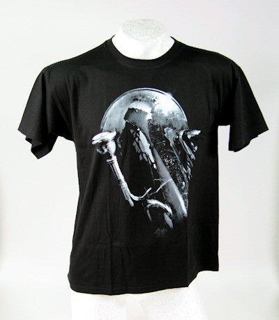 T-Shirt-schwarz-Tuba