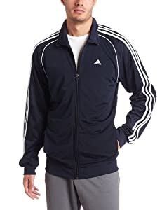 adidas Men's Layup Jacket, Dark Navy/White, 4X-Large