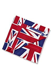 2 Pack Pure Cotton Union Jack Handkerchiefs [T09-8772-S]
