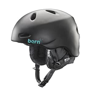 Bern Unlimited Women's Berkeley Satin Finish Snow Helmet with Black Liner, Black, X-Small/Small
