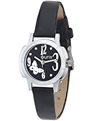 Oura Analog Black Dial Casual Wear Women,s Watch