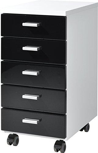 Germania-4099-73-Rollcontainer-4099-28-x-57-x-40-cm-wei-schwarz