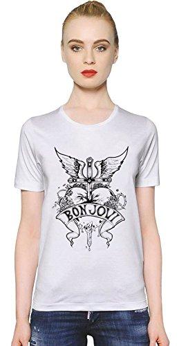 Bon Jovi Heart Design Womens T-shirt X-Large