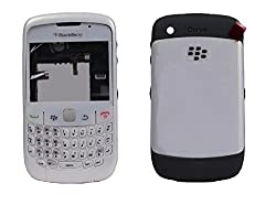 Blackberry Curve 8520 Full Housing Body Panel Faceplate White FREE SIM ADAPTER
