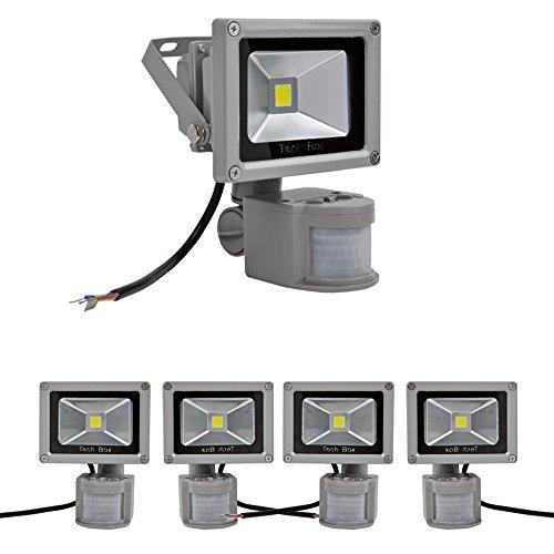 5X 10W Day White Led Pir Motion Sensor Flood Light Lamp 85-265V Cool White
