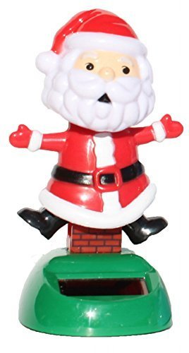 2014 New Version ~ Santa Claus on the Chimney Christmas Solar Toy - 1
