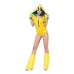 Amurleopard Women's Cosplay Yellow Dog Jumpersuit Halloween Costume