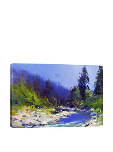 Yuri Pysar The Mountanious River Gallery Wrapped Canvas Print, Multi, 40