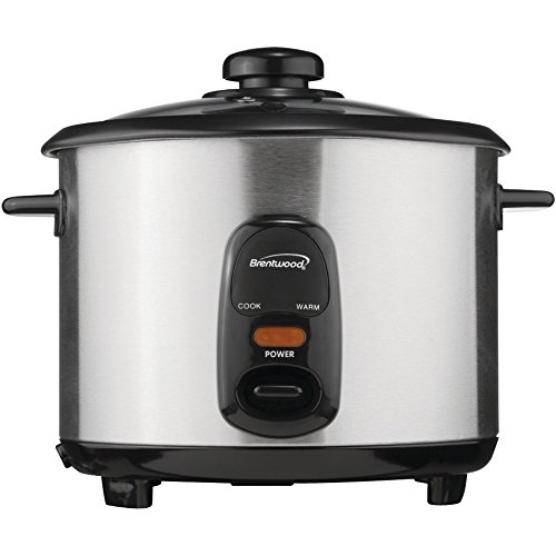 1 - 8-Cup Stainless Steel Rice Cooker, 8-cup uncooked rice capacity, 500W, * Nonstick coated inner pot