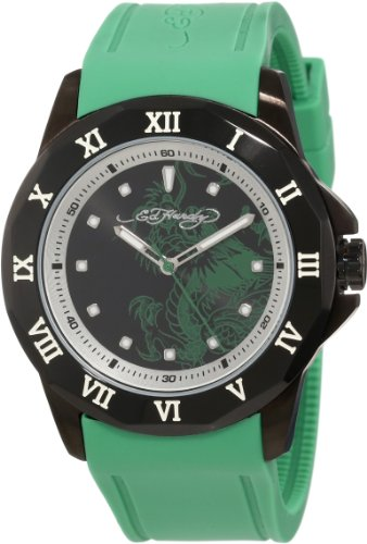 Ed Hardy Men's RM-GN Roman Green Watch