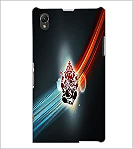 PrintDhaba Lord Ganesha D-2982 Back Case Cover for SONY XPERIA Z1 (Multi-Coloured)