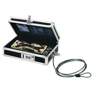 """Vaultz IDEVZ00075CT Locking Mini Cash Box, Black, 5-1/2""""W X 8-1/2""""D x 2-3/4""""H, 4 Per Carton"""