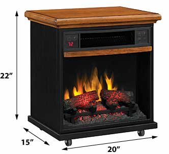 Duraflame Infrared Rolling Mantel in Premium Oak