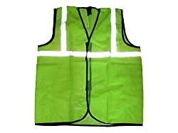 TheCoolio Safe Dot Reflector / Safety Jacket (Net Green) - Regular Pattern