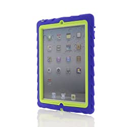 Gumdrop Cases Drop Tech Rugged Case for Apple iPad 2/3/4 (Royal Blue-Lime)