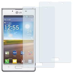 2 x mumbi Displayschutzfolie LG P700 Optimus L7 Schutzfolie CrystalClear unsichtbar