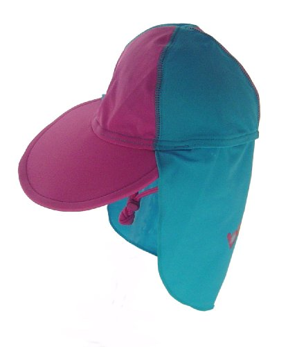 Bright Bots Australian Sun Protectin UPF50+ Legionnaires Sun Hat Pink and Turquoise size Large (approx 2/3yrs)