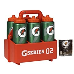 Gatorade Pro Squeeze Bottle 32oz Team Pack (6) and Carrier by Gatorade