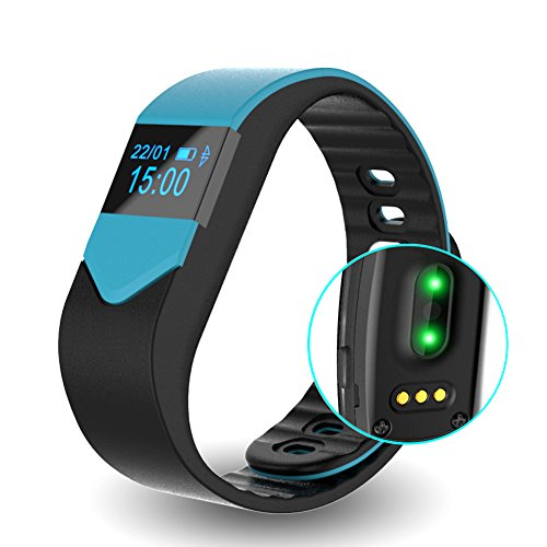 EIISON Fitness Tracker with Heart Rate monitor E3S Activity Watch Step Walking Sleep Counter Wireless Wristband Pedometer Exercise Tracking Sweatproof Sports Bracelet for Android and iOS ... (Blue) (How To Make A Time Mi compare prices)