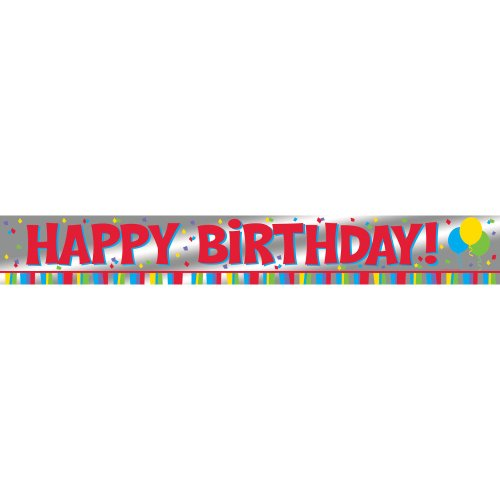 Foil Banner 6' Hpy Bday NewFoil Banner 6' Hpy Bday New - 1