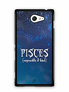 YuBingo Pisces (Responsible & Kind) Designer Mobile Case Back Cover for Sony Xperia M2