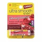 Carmex Ultra Smooth Lip Balm Stick Spf 15, Pomegranate, .15 Oz By Carmex