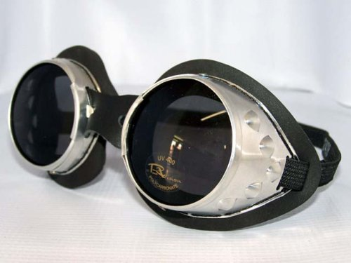 Classic Round Lens Moto Goggles Motorcycle MX Vespa Jeep Motorbike Scooter Interchangeable Lenses Steampunk Burning Man