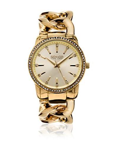 SO & CO New York Reloj con movimiento cuarzo japonés Gp15556 Dorado 38  mm