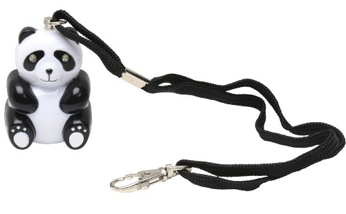 Panda Chaperone 125dB Emergency Panic Student Alarm by Vigilant Personal Protection Systems with Light Up Eyes, Wrist Strap and Bag Clip (PPS-80) (Fan Pull Panda compare prices)