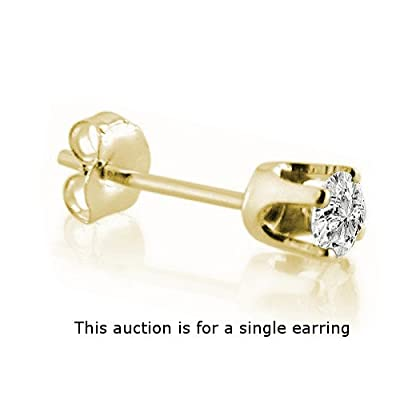Single Diamond earring stud