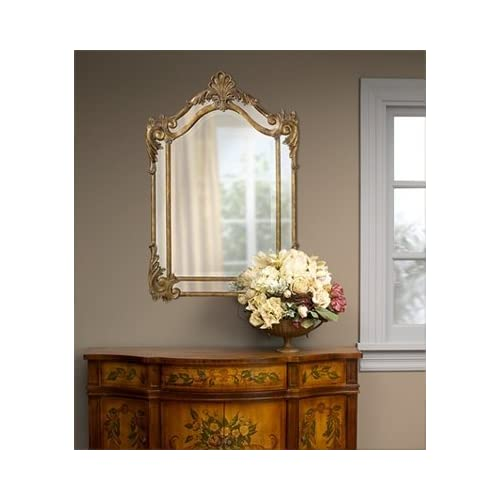 Ornate Baroque Extra Large Arch Top Wall Mirror Luxe Beveled