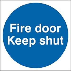 Signs to keep kitchen clean - Keep Shut Sticker Vinyl Sign 100x100mm Amazon Co Uk Kitchen Amp Home