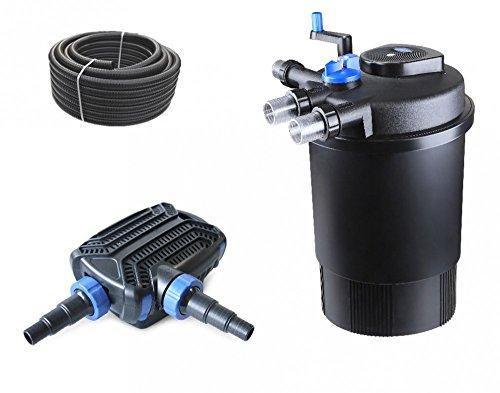bio-set-filtro-per-laghetto-cpf-30000-pressione-con-tubo-pompa-per-laghetto-per-laghetti-e-uvc-chiar