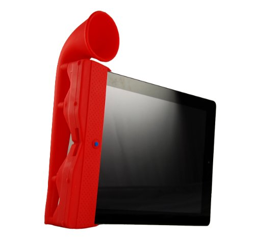 Retro Ipad Horn Speaker Stand For Ipad 2 Red