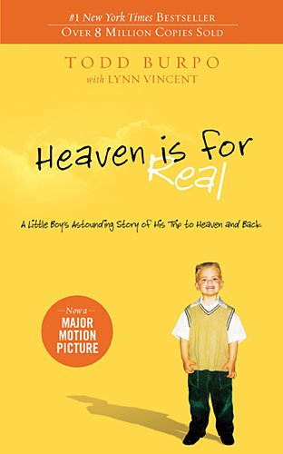 Book cover to 'Heaven is for Real'