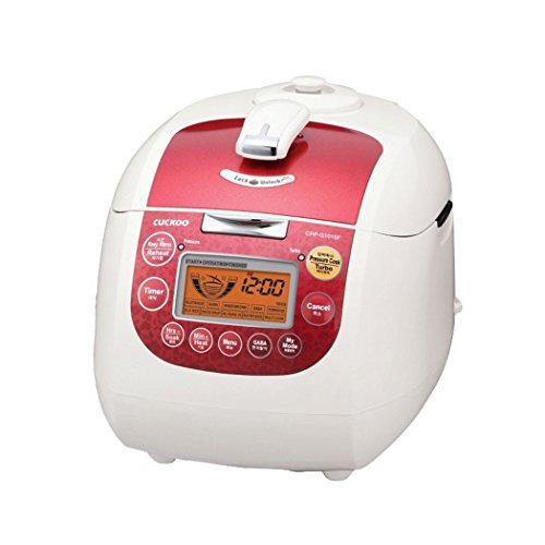 Cuckoo CRP-G1015F 10 Cup Electric Pressure Rice Cooker, (Red) (4 Cup Pressure Cooker compare prices)