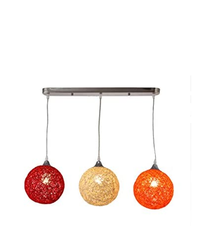 International Designs Sunset Ceiling Fixture, Wheat/Orange/Red