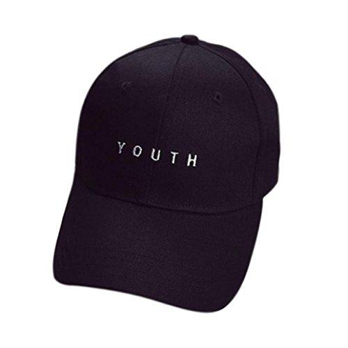 Internet Unisex Cappellini da baseball Ricamo Hip Hop Cappello (Nero)