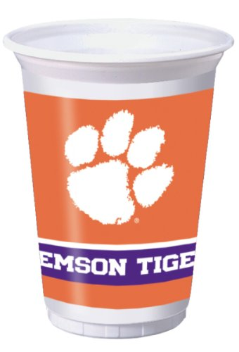 Creative Converting Clemson Tigers Printed 20 Oz. Plastic Cups (8 Count) - 1