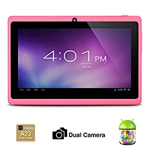 Alldaymall® 7 Inch Android 4.2 Tablet PC MID with Capacitive Touchscreen (Dual Core CPU, 1.5GHz, Wi-Fi, Dual Camera) Pink