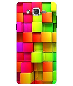Make My Print Abstract Printed Colorful Hard Back Cover For Samsung Galaxy J2