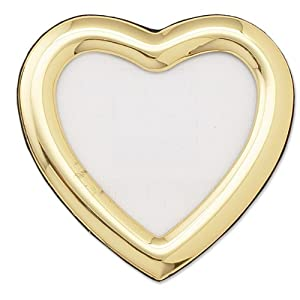 Lawrence Frames 2 by 3-Inch Gold Heart Picture Frame