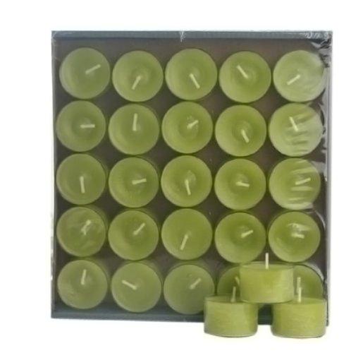 preisvergleich 25 teelichter im acryl cup nightlights gr n willbilliger. Black Bedroom Furniture Sets. Home Design Ideas