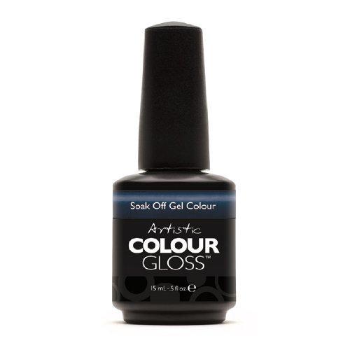 Artistic Nail Soak Off Colour Gloss Gel Midnight Blue Polish 03091 Defiant 0.5Oz